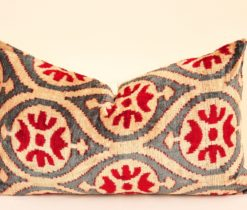 Ikat Velvet Cushion Pillow