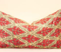 Red Green Ikat Pillow