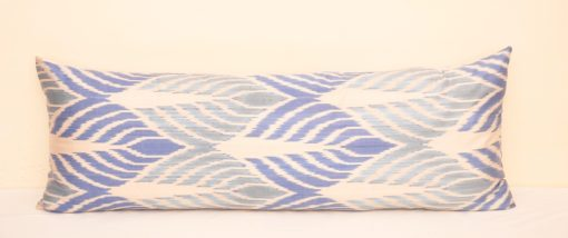 Blue Ikat Daybed Bolster Pillow