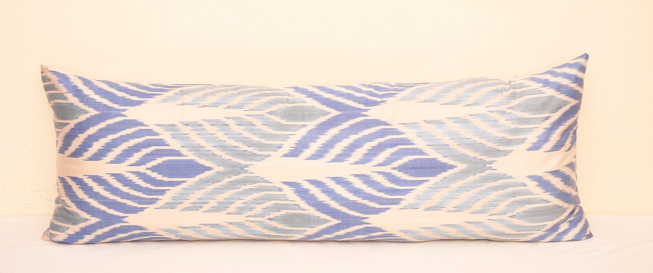 - Blue Ikat Daybed Bolster Pillow Alesouk.com Home Decor
