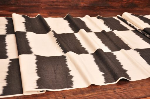 Chess Patterned Cotton Ikat Fabric