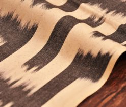 Black And White Cotton Ikat Fabric