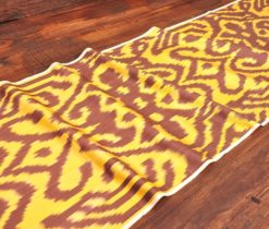 Brown Yellow Motifs Ikat