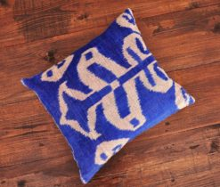 Ogee Velvet Ikat Cushion