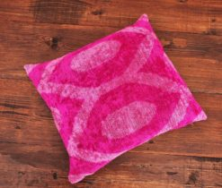 Argyle Ikat Velvet Cushion