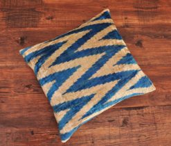 Grey Blue Zigzag Pillow
