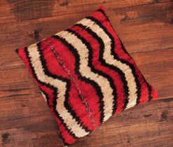 Stripes Velvet Ikat Cushion