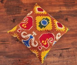 Argyle Velvet Ikat Cushion