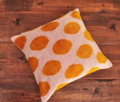 Arabesque Velvet Ikat Cushion