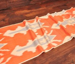 Trendy Orange Ikat Fabric