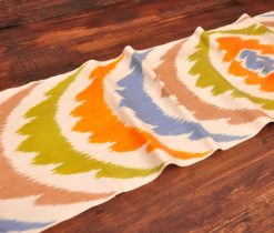 Rainbow Silk Ikat Fabric