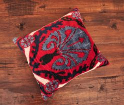 Peacock Velvet Ikat Pillow