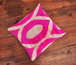 Argyle Pink Velvet Pillow