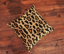 Brown Spotted Velvet Cushion