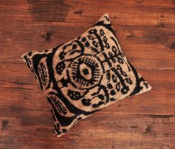 Brown Eye Ikat Pillow