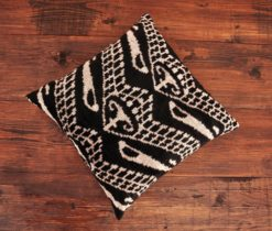 Argyle Black Velvet Cushion
