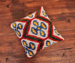 Checker Velvet Ikat Pillow