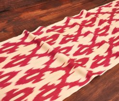 Red Cotton Ikat Fabric