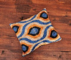 Multicolour Arabesque Ikat Pillow