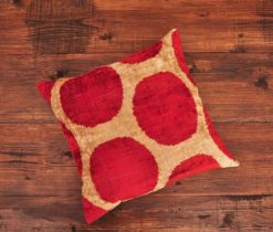 Red Ogee Velvet Cushion