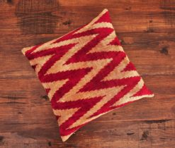 Herringbone Velvet Ikat Pillow