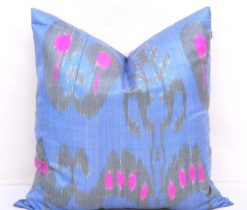 Palmette Silk Ikat Cushion