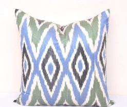 Blue Ikat Accent Cover