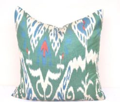 Filigree Silk Ikat Pillow