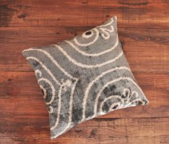 Grey Lined Ikat Cushion
