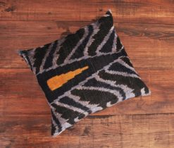 Black Abstract Velvet Cushion
