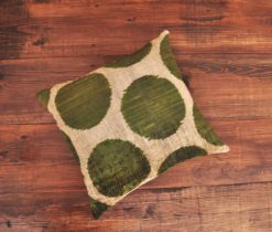 Beige Green Dot Cushion