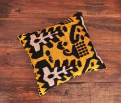 Yellow Decorative Velvet Pillow