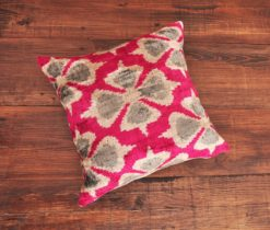 Floral Ikat Throw Pillow