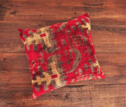 Abstract Reddish Velvet Cushion