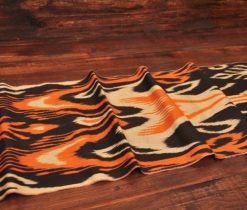 Fiery Black Cotton Ikat