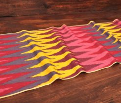 Pointed Silk Ikat Textile