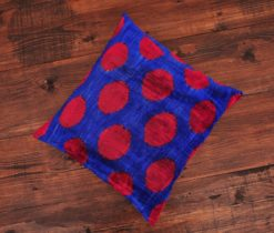 Blue Red Ogee Pillow