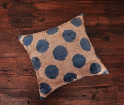 Blue Circle Dot Pillow
