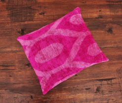 Argyle Ikat Velvet Pillow