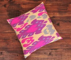 Pink Cherry Ikat Pillow