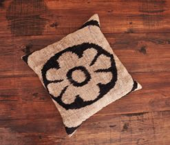 Floral Beige Velvet Cushion