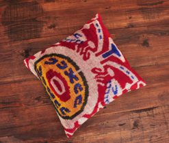 Tribal Motifs Velvet Pillow