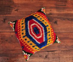 Egypt Velvet Ikat Cushion