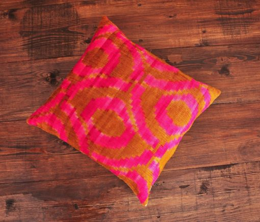 Toile Ikat Velvet Pillow