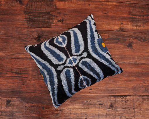 Salihtex Blue Velvet Cushion