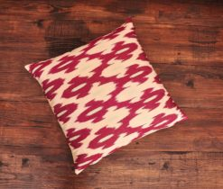 Red Jacquard Ikat Cushion