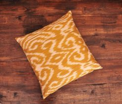 Goldy Damask Ikat Pillow