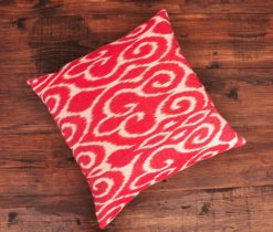 Scroll Reddish Cotton Cushion