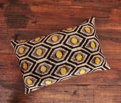 Honeycomb Velvet Ikat Pillow