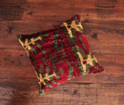Maltese Velvet Ikat Pillow